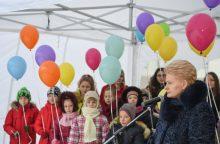 D. Grybauskaitė Zarasuose atidarė vaikų dienos centrą