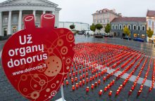 Žvakutės, skirtos 1410 organų donorų, šiemet suliepsnojo net 9 miestuose