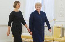 D. Grybauskaitė susitiko su naująja Estijos prezidente