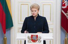 D. Grybauskaitė: kovojant su korupcija kompromisų būti negali