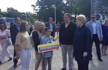 Prezidentė susitiko su pajūryje stovyklaujančiais vaikais