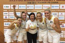 LSU krepšininkės – pasaulio trijulių čempionės