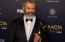 Sugrįžęs M. Gibsonas susišlavė devynis kino apdovanojimus