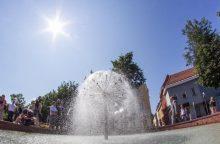 Vokiečių gatvė turi   atnaujintą   fontaną