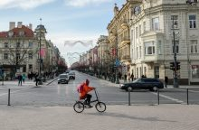 Specialūs detektoriai fiksuos dviračių srautus Vilniaus centre